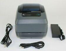 Zebra GX430t Thermal Network Label Barcode Printer USB & Ethernet Damaged Button