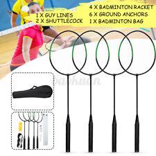 AU 4 Players Badminton Racquet Set Racket / 2 Shuttlecocks / Net / Poles / Bag