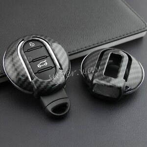FOR Mini F54 F55 F56 F57 F60 Car Hard Shell Smart Key Case Carbon Fiber Cover