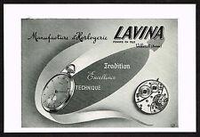 1940's Vintage 1948 Lavina Watch Co Pocket Watch - Paper Print AD