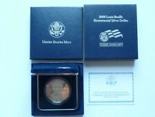 2009-P Louis Braille Dollar Proof Box & COA
