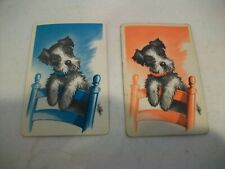 Vintage Single Swap Playing Cards - Lot Of 2 Cards - Scottie
