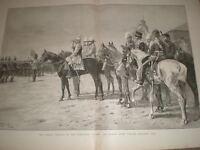 Kaiser Wilhelm II Wimbledon Rifle Review London Rifle Brigade 1891 print ref AZ