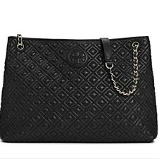 Tory Burch Marion Quilted Tote - Brand New - Black