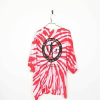 Vintage TIE DYE Small Logo Graphic T Shirt Tee Red | 3XL