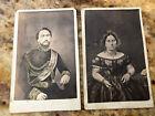 2 Rare Original 1860's CDV Photos Of Hawaii King Kamehameha IV & Queen Emma