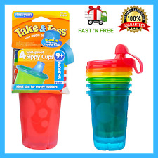 Baby Feeding Take & Toss Spill-Proof Sippy Cups, 10 Ounce, 4 Count