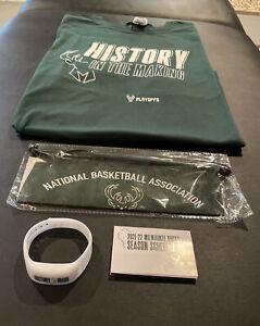 Milwaukee Bucks replica World Championship Banner,  Bracelet, T-shirt. All New.