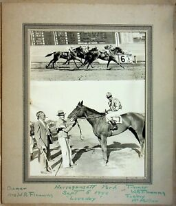 "Vtg ""Winner's Circle"" Horse Racing Photo 9-5-42 ""Loveday"" Narragansett Park"
