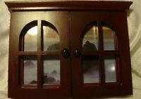 "Desktop Hinged Window Designer Picture Frame Wood & Glass Holds 4""x6"" Photo  L21"
