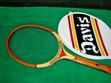"""TAD Davis """"TAD"""" Wood Tennis Racquet USA 5L"""
