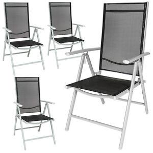 4er Set Alu Klappstuhl Gartenstuhl Aluminium Campingstuhl Hochlehner B-Ware