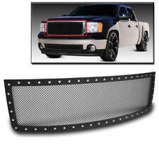 GMC 2007-2013 SIERRA 1500 NEW BODY UPPER STAINLESS RIVET BLACK MESH GRILLE GRILL