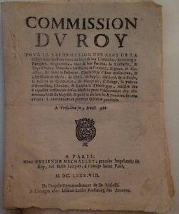 Documento De La 17ème El Uso Indebido De La Justice Dans Le Limousin ,1688.