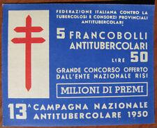 1950  13° CAMPAGNA  ANTITUBERCOLARE - LIBRETTO completo