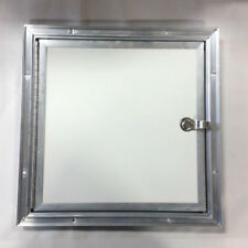 """White Fuel Door for ATV and Snowmobile Trailers - 14"""" x 14"""""""