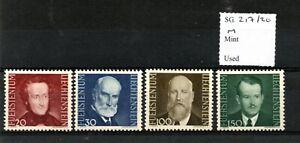 Liechtenstein 1943 Portraits set SG217/20 hinged mint