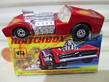 Lesney Matchbox Rare MB19B METALLIC BURNT RED ROAD DRAGSTER With #8 LABELS NuBxd
