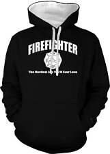 FireFighter The Hardest Job You Will Ever Love America 2-tone Hoodie Pullover