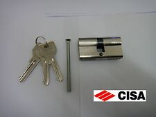 CISA EURO PROFILE DOUBLE CYLINDER 30/40 10 PIN NICKEL PLATED FINISH - NEW