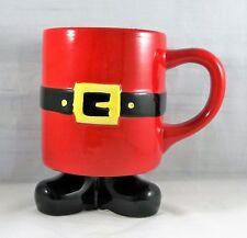 Santa Claus Mug with Feet Coffee Cup Ho Ho Ho!