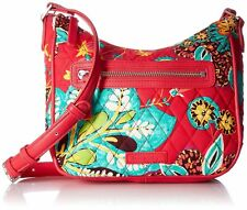 Vera Bradley NWT $58 Coral Vivian Crossbody Rumba Cotton Shoulder to Crossbody