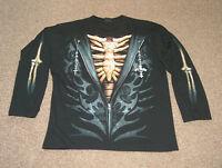 Shirt / cooles Langarmshirt - Größe M/L - 3D Optik