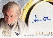 Lord of the Rings Return of the King Ian Holm as Bilbo Auto Card LotR