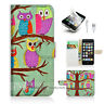 ( For iPhone 5 / 5S / SE ) Wallet Case Cover! Cute Cartoon Owl P0131