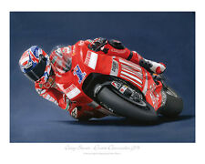 "Casey Stoner MotoGP 2008- Limited Edition Art Print (of 50 only) Poster 20""x16"""