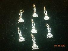 Wholesale Lot # 137 Pewter Bunny Rabbit Wine Charm Pendant Earring Key Chain Bag