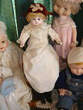 """Antique Old 24"""" Patent Washable paper mache doll Vintage clothes 1880's-1915"""