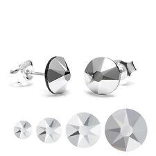 925 Sterling Silver Stud Earrings Light Chrome Genuine Crystals from Swarovski®