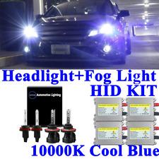 NEW 4X Bi-Xenon HID Headlight Kit DSV Hi-Lo Beam Fog Light 9007 880 / 881 10000K