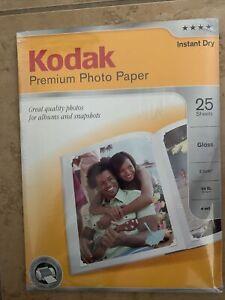 KODAK Instant Dry Premium Photo Paper Gloss, 8.5 x 11 (Pack Of 25) NEW & SEALED