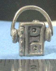 Late Sky Opoly 80s walkman token pawn metal pewter mover mini 1980 replace