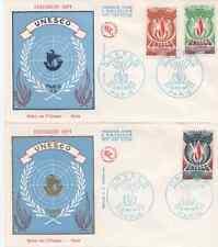FRANCE 1975.F.D.C. PALAIS DE U.N.E.S.C.O. PARIS.OBLIT:LE 15/11/75 PARIS (2 env.)