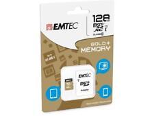 128GB Micro SDXC Speicherkarte EMTEC GOLD Karte Class 10, 85MB/s + SD Adapter