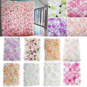 8pcs Silk Flower Rose Hydrangea Wall Panel Hanging Wedding Venue Main Road Decor