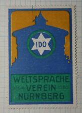 IDO World Language Nurmberg Germanuy WWW Clubs & Societies Poster Stamp