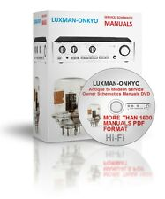 .L To O Hi-Fi Antique to Modern Service Owner Schematics Manuals DVD