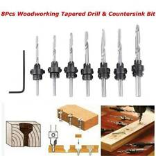 22pcs Tapered Drill Amp Countersink Bit Screw Tool Set Wood Pilot Hole Woodworking