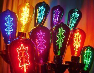 Light Bulbs - ST64 Atomic Star Light Bulbs - Color Variety