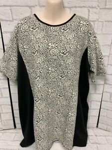 Ladies Floral Wallis Tunic Black and White Top Size XL Brand New with Tags A84