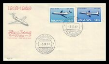 Iceland 1969 FDC, Air Mail. Boeing 727. Lot # 2.