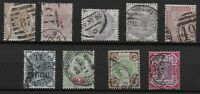 Small Group Of QV Surface Printed Stamps. Fine Used. Good Condition.   Ref:07163