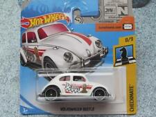 "Hot Wheels 2018 #364/365 VOLKSWAGEN BEETLE white red ""PAWN""  Checkmate Chess VW"