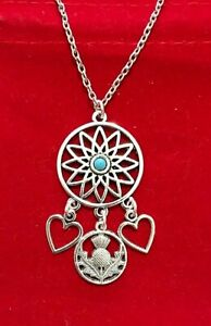 Thistle & Heart Dream-catcher Necklace ~ ONLY £3.65 ~ Free UK P&P