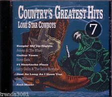 Countrys Greatest Hits VoL 7 LONE STAR COWBOYS CD Classic 70s 80s DON WILLIAMS