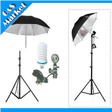 Continuous Lighting Kit 195cm Light Stand+110v 150w Bulb+Umbrella+Swivel Adapter